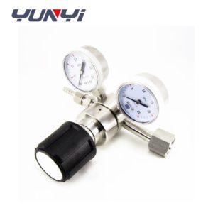back pressure regulator valve with gauge