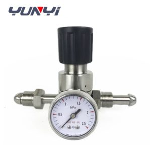 high pressure regulator with gauge
